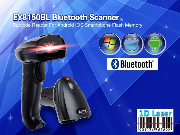 Free Shipping!EY8150BL New Wireless Bluetooth 1D Barcode Scanner Mini Barcode Reader for iOS, Android Windows System Bar Scanner