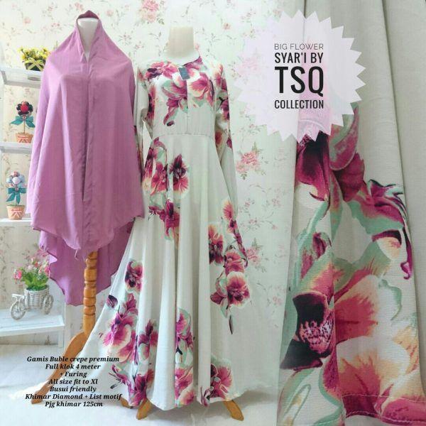 Produk Terbaru: Baju Gamis Syari B101 Big Flower - http://www.bajugamisku.com/baju-gamis-syari-b101-big-flower