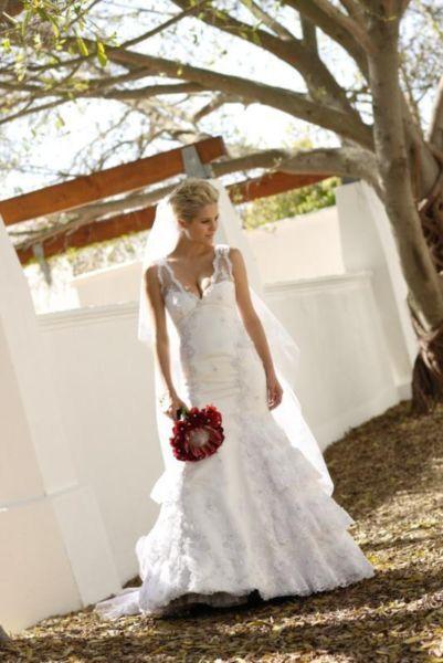 Minki van der Westhuizen's wedding dress