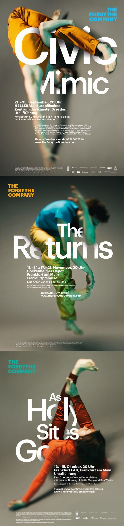 Design: TheForsyTheCompany Purpose: Advertise a dance show in Dresden