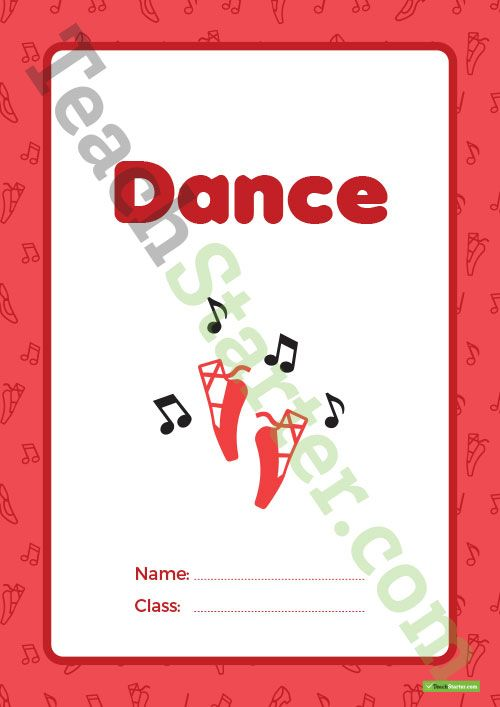 Dance Book Cover – Version 2 Teaching Resource