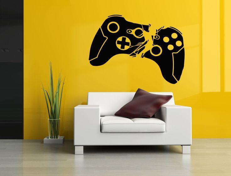 Controller Video Games Wall Vinyl Sticker Gamer Decals Mural Room Design Pattern Art Bedroom xbox bo1965 –  – #GamerRoom|DIY