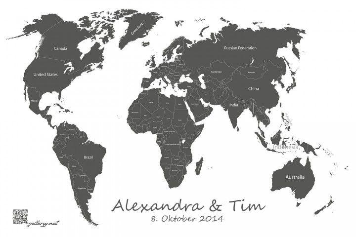 Weltkarte Reiseführer