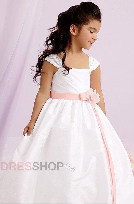 Floor-length A-line/Princess Taffeta Cute Flower Girl Dresses
