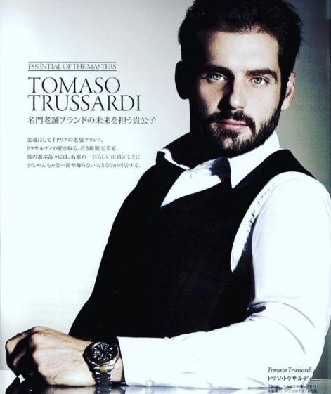 """""""The gentle and noble man who carries the historical brand's future"""" - Tomaso Trussardi as featured in The Rake Japan, January 2017 issue #Trussardi #TrussardiEditorials"""