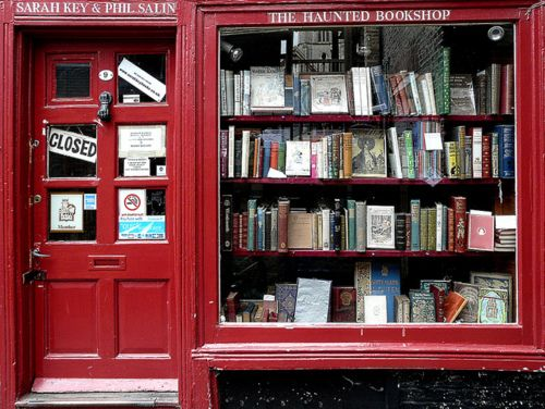 The Haunted Bookshop  in Cambridge, UK. I want to go to small, ridiculously beautiful book stores with you.