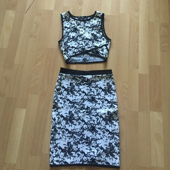 Black And White Two Piece Set Forever 21 black and white two piece set. fits like a dream. worn once. top is a small bottoms are a medium Forever 21 Other