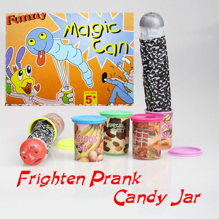 面白いトリック怖がらキャンディジャー飛び出すで音声奇妙な瓶パーティープレイ特別甘いジョーク子供ギャグおもちゃfci #