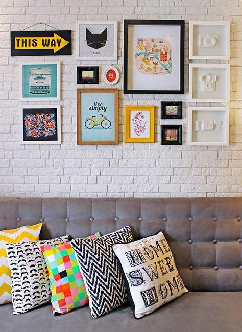 Essa Quebra no Caos Urbano Parede linda de quadros para inspirar na decoração