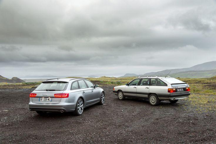 """Photo de l'article """"Audi 100 Avant 1984 vs Audi A6 Avant 2014 : c'était mieux avant ?"""""""
