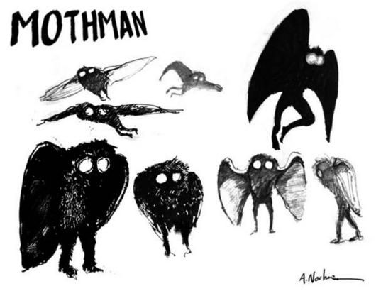 mothman sketches