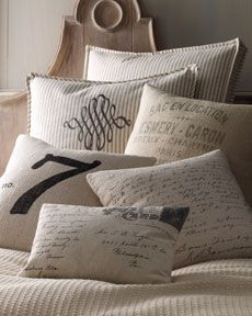 french laundry home pillows: Decor, Living Rooms, French Linens, Interiors Design, Pillows Talk, Modern Houses, French Laundry, Throw Pillows, Neiman Marcus