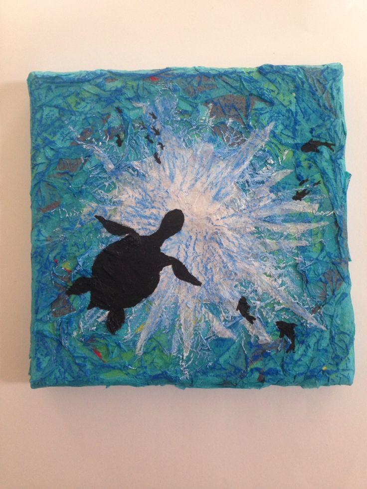 Underwater canvas artwork  Pacey Art in pArty
