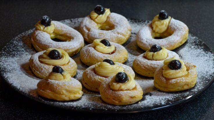 Traditional Italian Zeppole Recipe - baked Cream Puffs