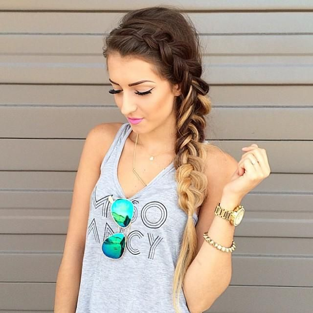 beautiful braid & makeup