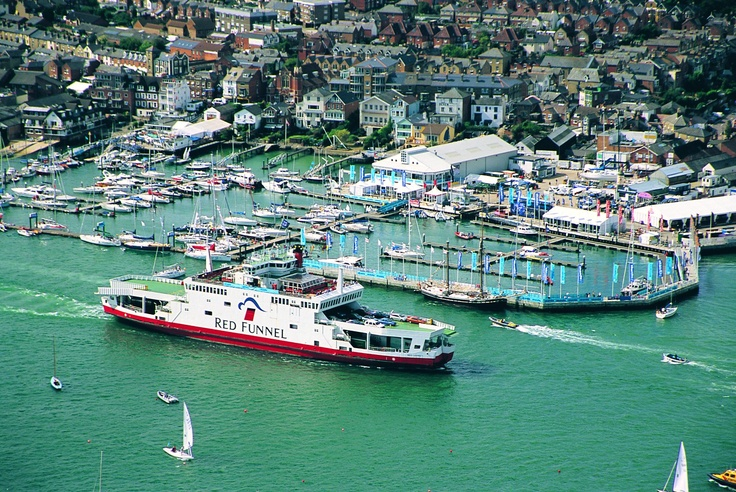 Red Funnel Ferry passing Cowes on the Isle of Wight