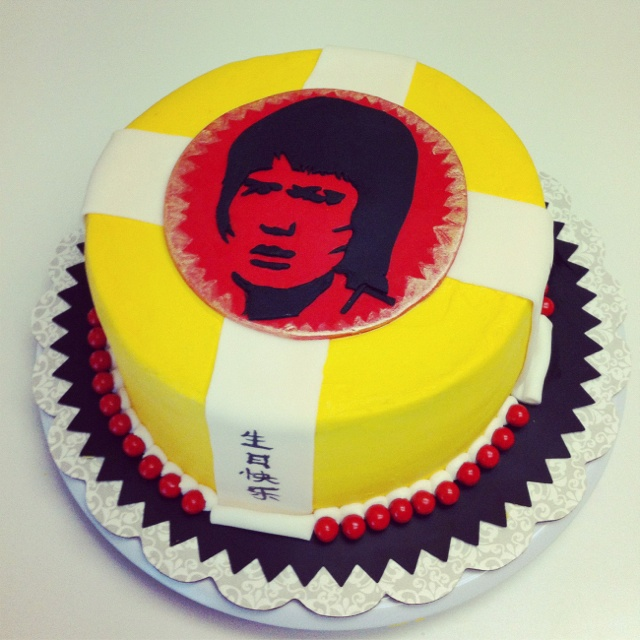 Bruce Lee birthday cake. Do it Yourself