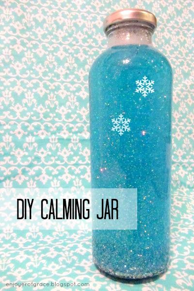 calming jars are great for when kids need a distraction and some time to calm down, just please use a plastic bottle!