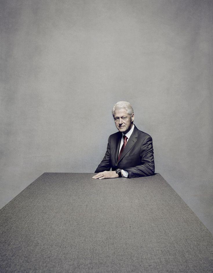 Nadav Kander photographs former president Bill Clinton