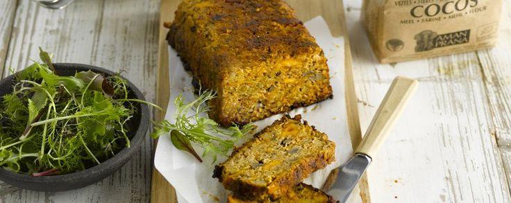 Vegetarisch gehaktbrood: recepten met seitan gehakt #amanvida #noblehouse #amanprana #bertyn #gehaktbrood #vegetarisch #seitan #bio