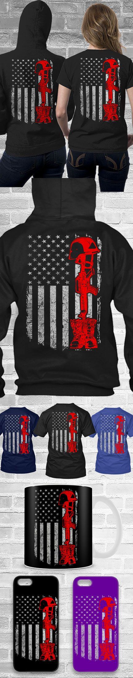 Fallen Soldier USA Flag Shirts! Click The Image To Buy It Now or Tag Someone You Want To Buy This For.  #soldier