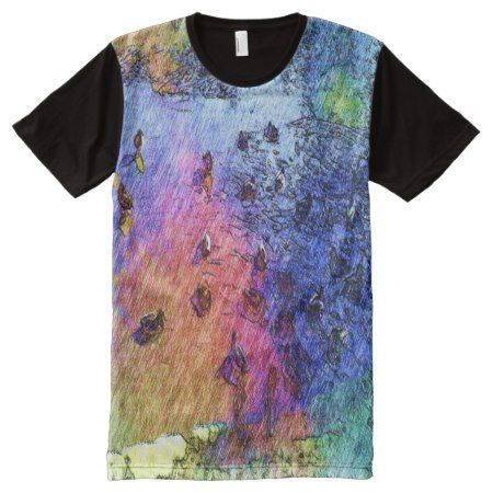 duck swiming in a pond All-Over-Print T-Shirt - tap, personalize, buy right now!