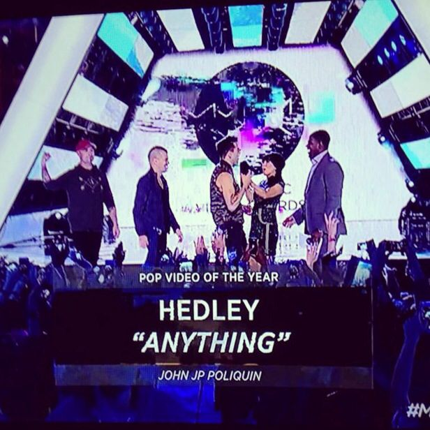 """Hedley Wins """"Pop Video of the Year"""" for """"Anything"""""""
