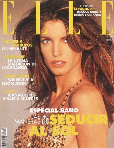 """ Elle Spain, June 1995. Model: Stephanie Seymour. """