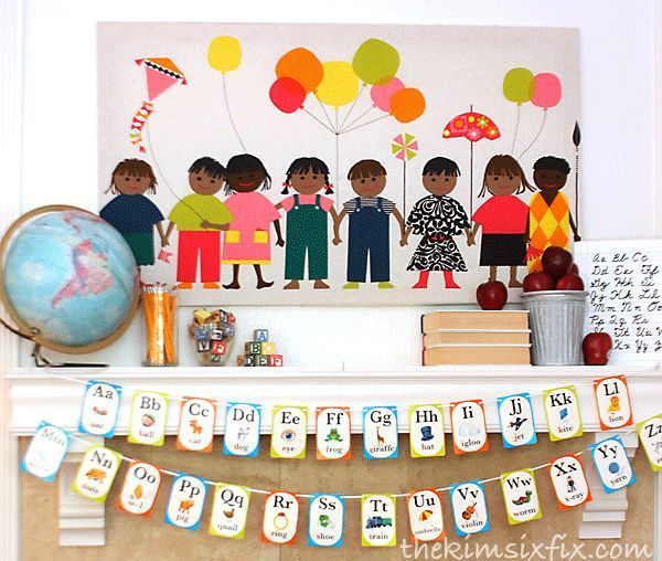 School children mantel.. perfect for back to school
