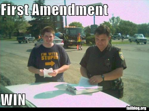 the challenge of the first amendment of the us constitution The first ten amendments to the constitution are called the bill of rights the bill of rights talks about individual rights over the years, more amendments were added.