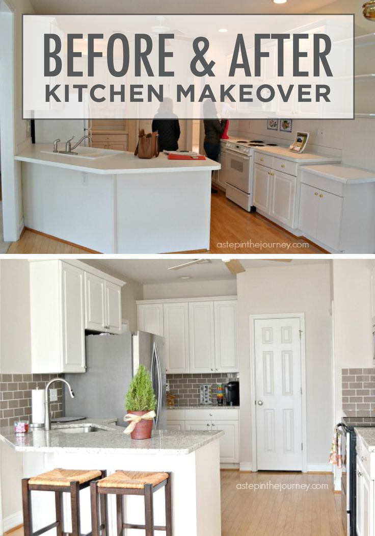 This before and after kitchen makeover from a step in the journey is sure to inspire you with - Easy steps for a kitchen makeover ...
