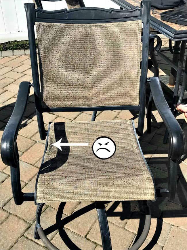 diy patio chair repair patio chairs