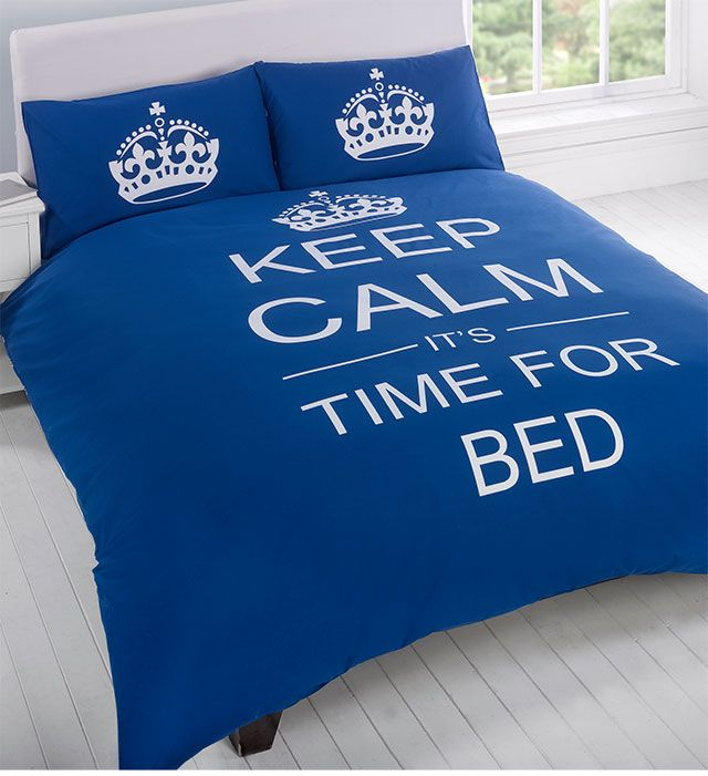 Admirers of the incredibly well known 'Keep Calm' slogan will love to slumber with the Keep Calm bedspread. This stylish bedspread comes in a variety of colors...