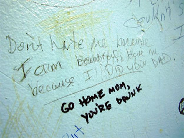 """You're drunk"" 