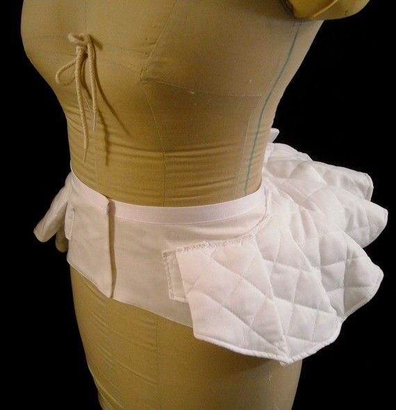 Victorian Bustle Pillow Support bum roll made to by redthreaded, $79.00