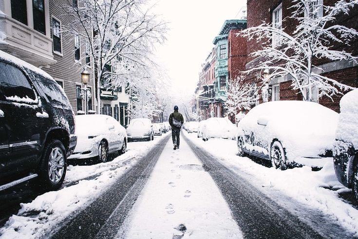 Hiver, Rue Enneigée, Congelés, Neige, Janvier