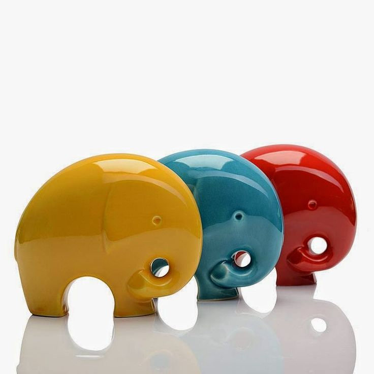 Ceramic Elephants by Misija Design