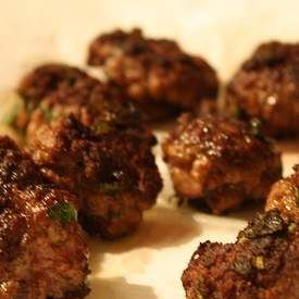 Recipe Lamb haloumi meatballs by Fun Fatty foods - Recipe of category Main dishes - meat