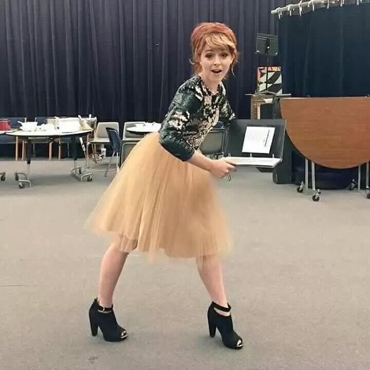 Lindsey Stirling. Her outfit is so cute!