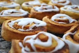 Cinnamon Scrolls- By Stef Schwartz  BELLINI ADDICTS RECIPES  300g Self Raising Flour 90g Butter, Cut into chunks 150g milk  FILLING 120g Butter 80g Soft brown sugar 2 tsp cinnamon, sultanas  ICING 150g white sugar 1 tbsp boiling water  The rest in Bellini Addicts Recipes