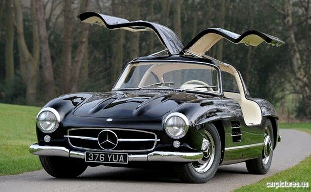 1955 black mercedes 300sl coup gullwing mercedes benz for Mercedes benz gullwing 1955