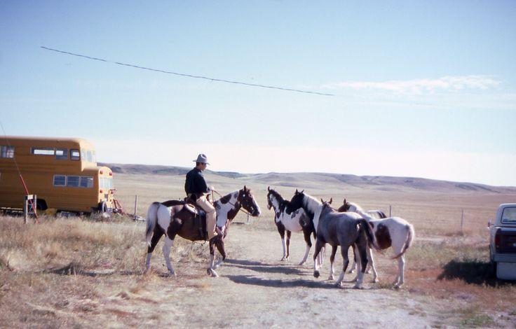 - nella riserva indiana Piedi Neri - Canada