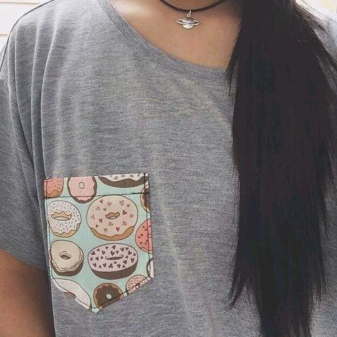 Donut Pocket Grey T Shirt