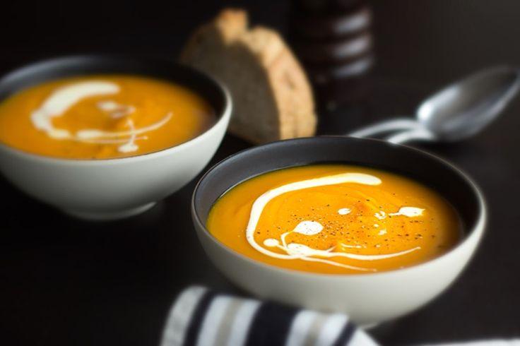 """Une recette inratable de Velouté de potimarron """"sans recette"""" Thermomix sur Yummix • Le blog culinaire dédié au Thermomix !"""