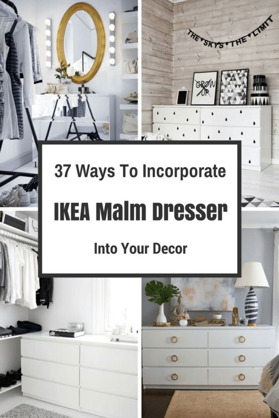 Some nice ideas to incorporate popular IKEA MALM dressers into any decor.