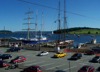 The Bluenose II at her home port of Lunenburg