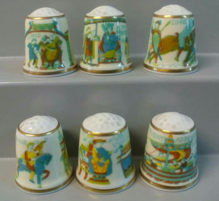 Colección de seis dedales basada en tapices SUTHERLAND
