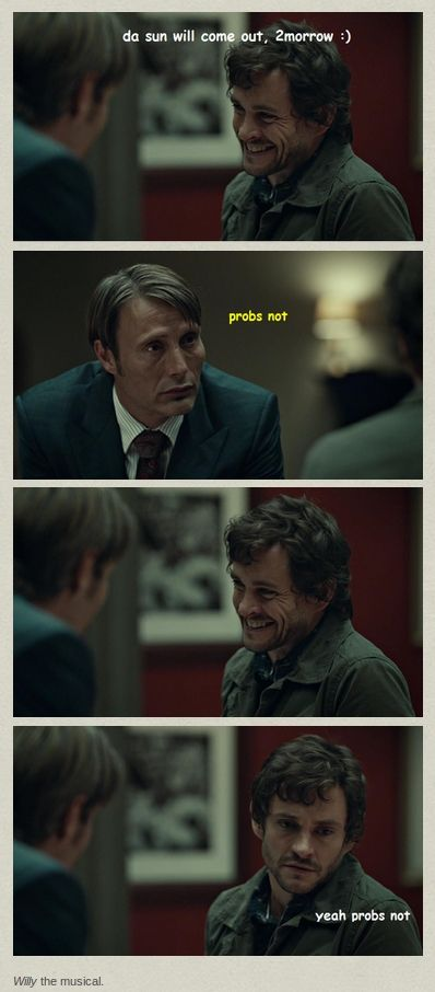 Hannibal. Yeah... I don't think so
