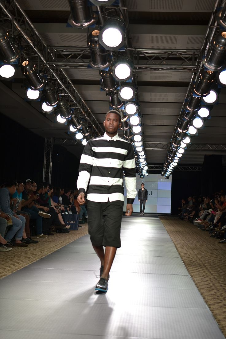 Black and white stripes shirt