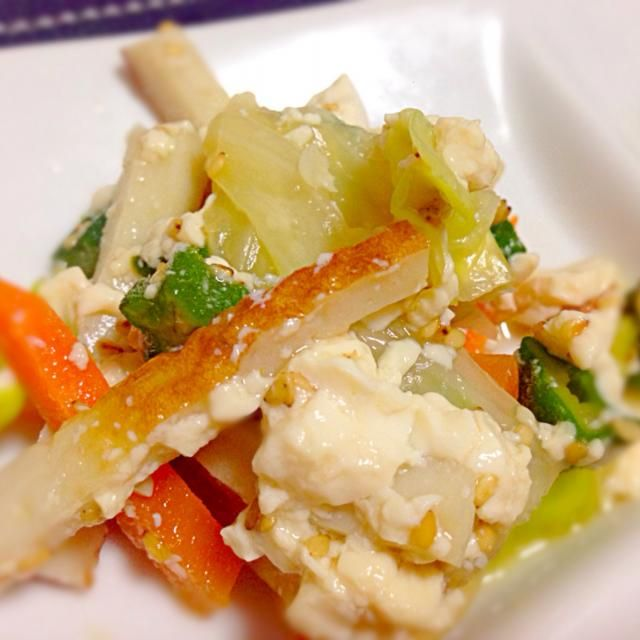 ヘルシーな一品に❤️ 副菜やおつまみになります(≧∇≦) - 52件のもぐもぐ - 麺つゆ一発!竹輪ときゃべつの白和え by mms26mr